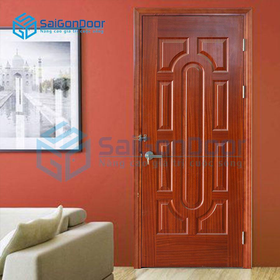 Cửa gỗ chống cháy GCC.019-SAPELE