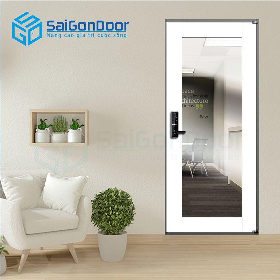 Cửa thép Hàn Quốc căn hộ cao cấp có ô kính cao cấp 905-H